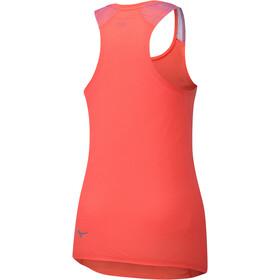 Mizuno Aero Koszulka do biegania bez rękawów Kobiety czerwony
